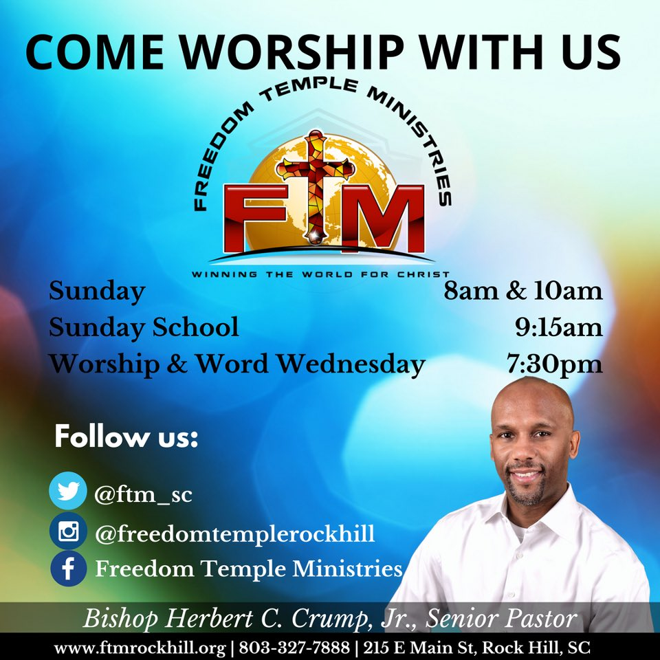 We would love to have you worship with us tomorrow! Join us 8am, 10am, or online at  http:// ftmrockhill.org  &nbsp;  ! #lifechanging #ftmrockhill<br>http://pic.twitter.com/lmkaXO3crh