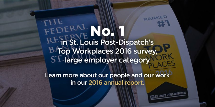 "For a snapshot of how the St. Louis Fed brings its mission to life, see ""Our People, Our Work"" https://t.co/SC16RXgBSx"