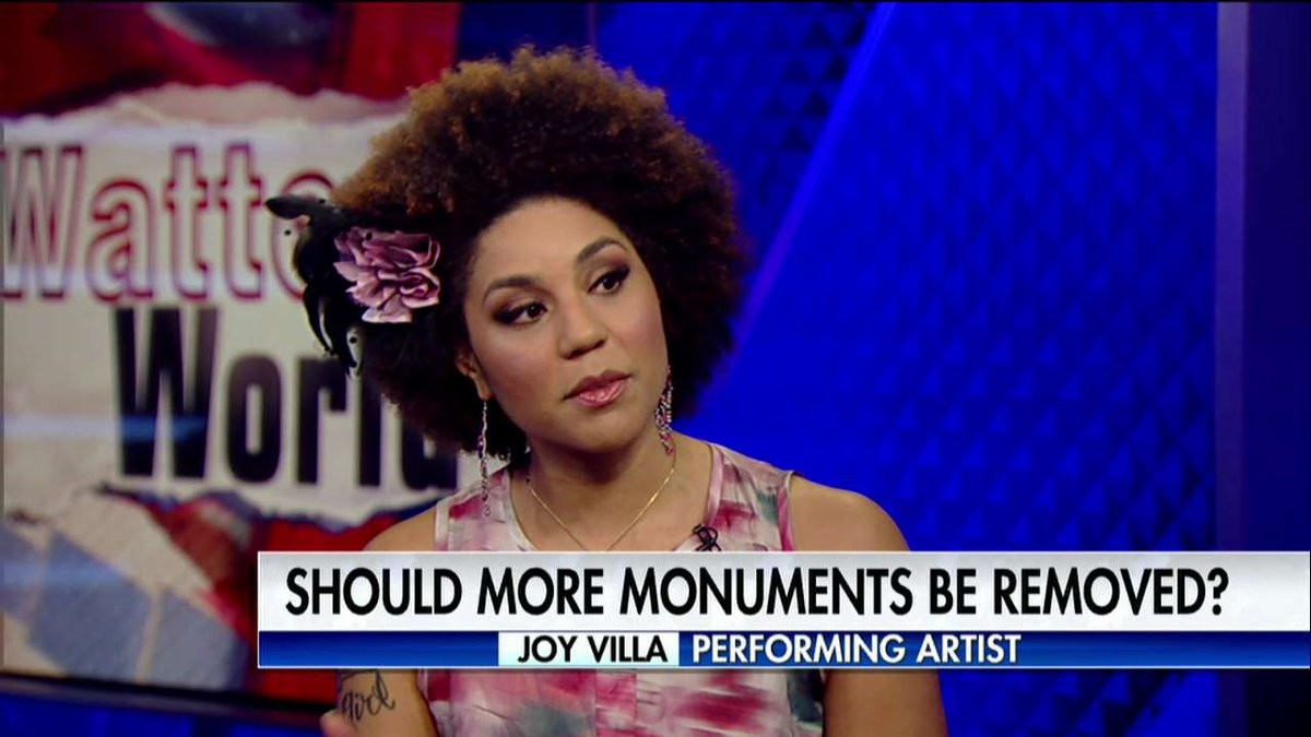 Joy Villa on removing Confederate statues: 'Trying to erase history is not putting us forward it's putting us backwards.'