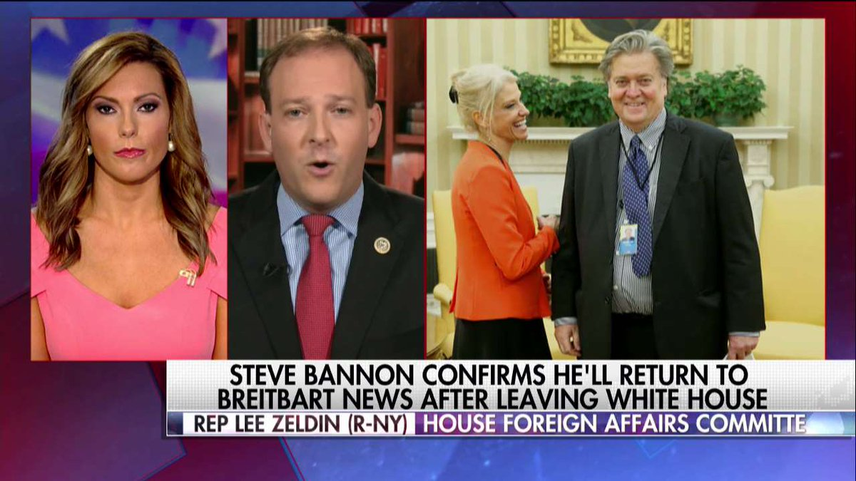 .@RepLeeZeldin on the departure of Steve Bannon: 'President Trump isn't going to stop fighting for securing our border and building a wall.'