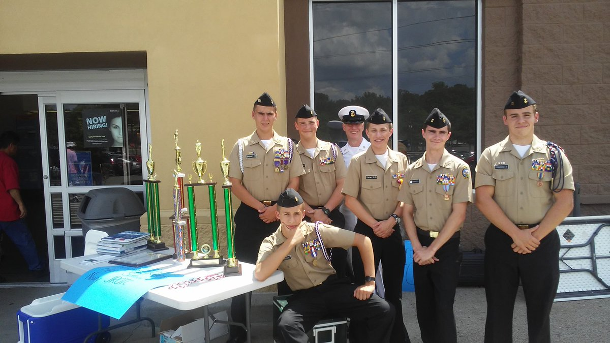 Several cadets gave up 4 hrs of their #weekend to help with fundraising at #Walmart . Hooyah cadets! <br>http://pic.twitter.com/we4FpBO3PU