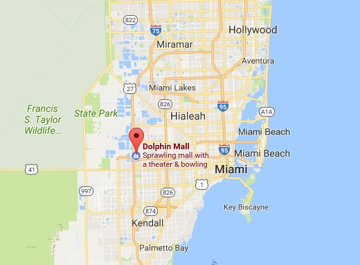 Police respond to reports of shots being fired at the Dolphin Mall near Miami; no word on injuries https://t.co/NlSiZgY6uq