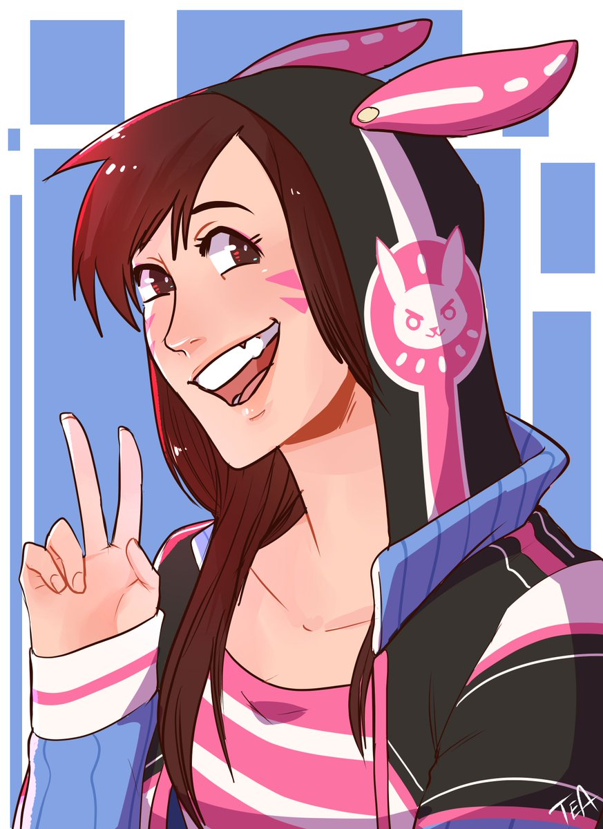 Had an artblock, played some Overwatch Ended up drawing D.VA #cutiesaturday #overwatch <br>http://pic.twitter.com/MJvAqIJdBg