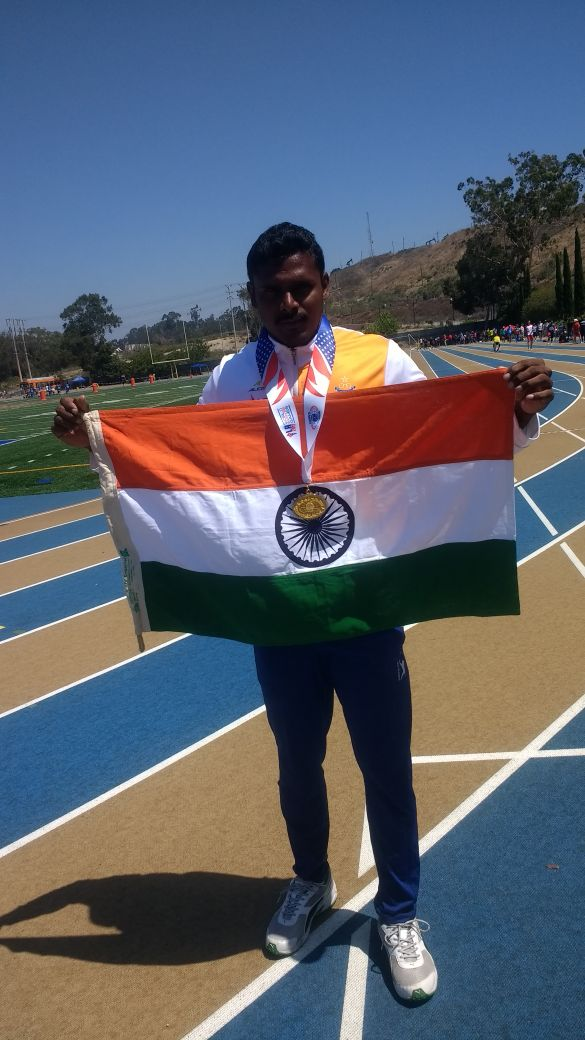 CT/GD T. Ayappan of 78 Bn won 01 gold and 03 silver medal in #world #Police  #Athletics  competition 2017 conducted in #USA @crpfindia<br>http://pic.twitter.com/X6Es8pEYAQ