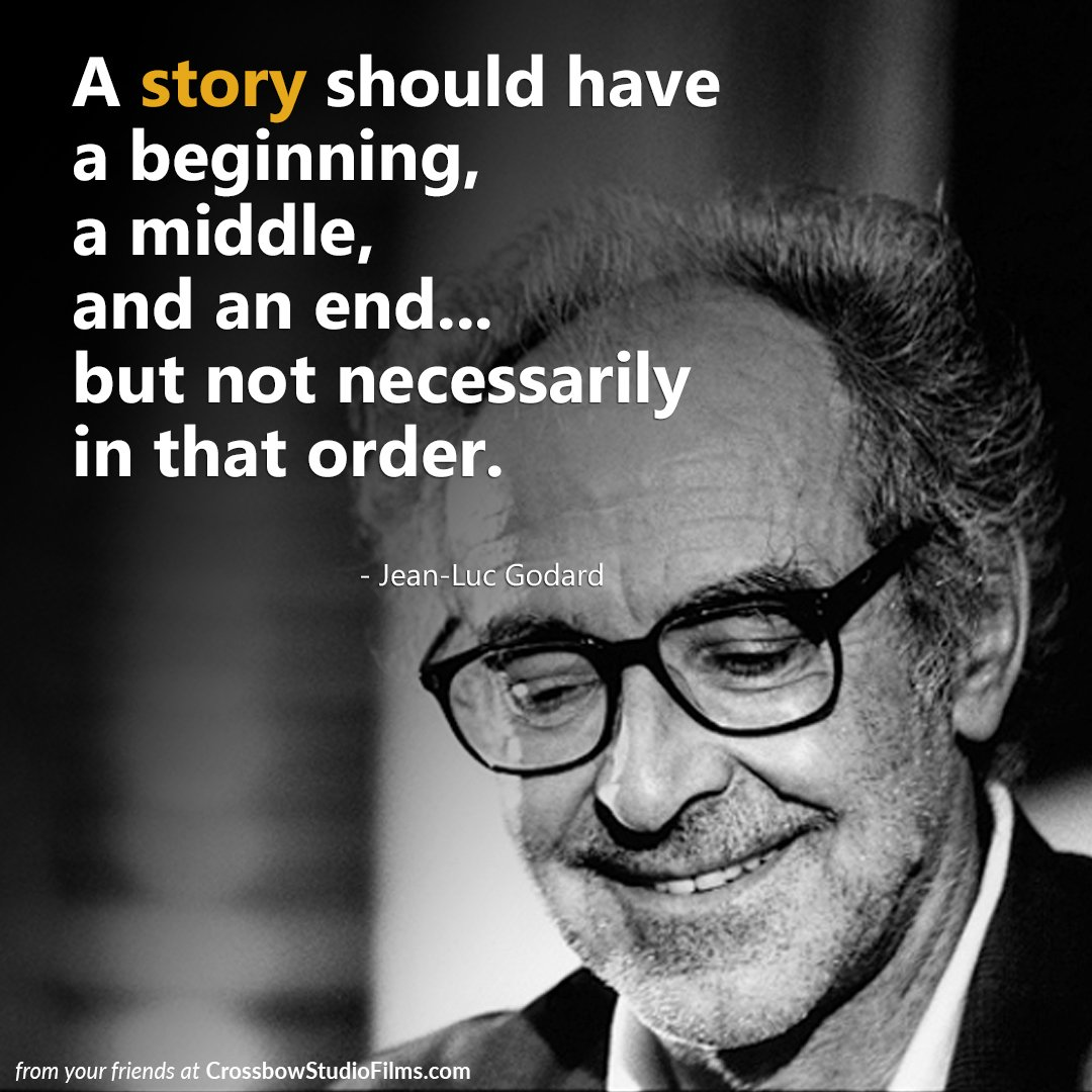 A story should have a beginning, a middle, and an end... #jean-lucgodard #directing #filmmakers #filmdirector<br>http://pic.twitter.com/oMdsC1hY80