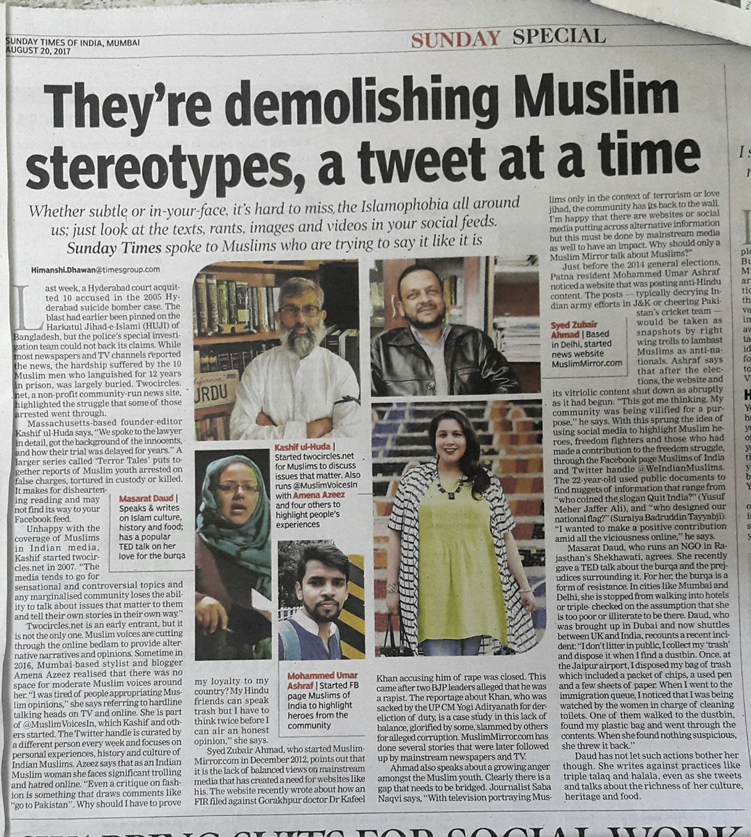 Look @masarat, you are in today&#39;s #TOI. 🖒🖒🖒 <br>http://pic.twitter.com/zjuodieV8Y