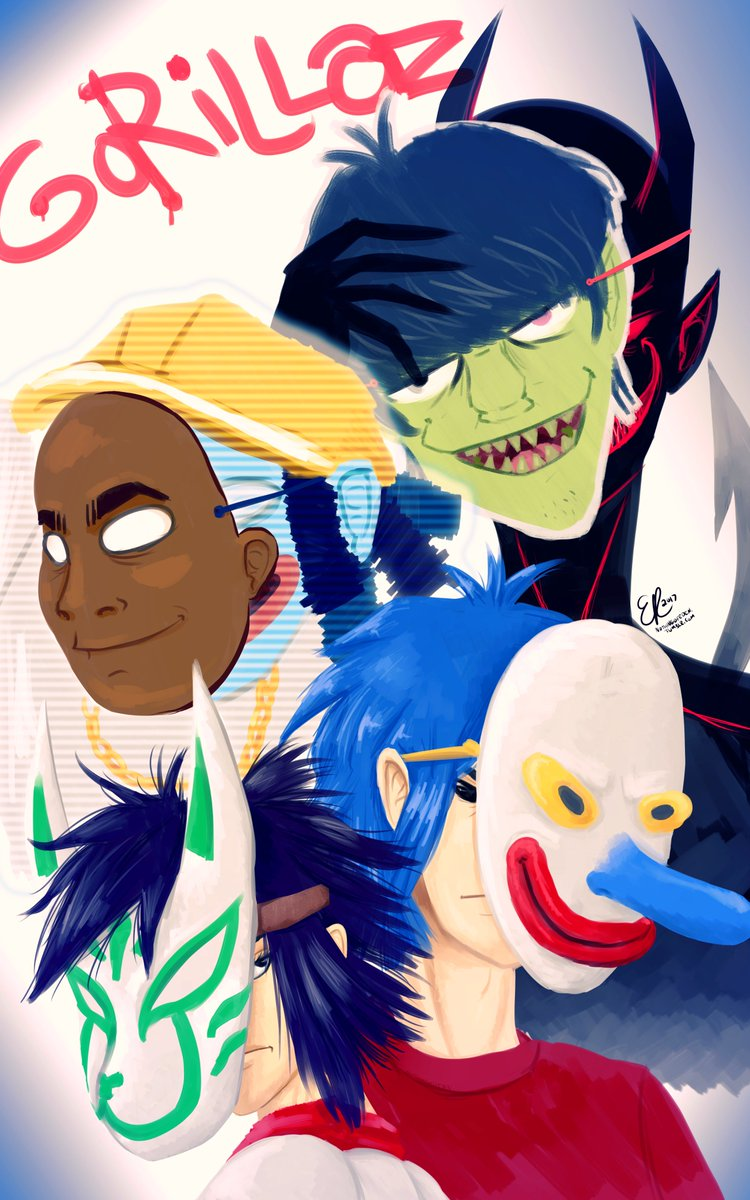 Everyone has a form of mask. Even the anti-christ devil wears a mask, even if it is a human&#39;s face. @gorillaz @JamieHewlett #gorillaz <br>http://pic.twitter.com/auDi6dyb8c