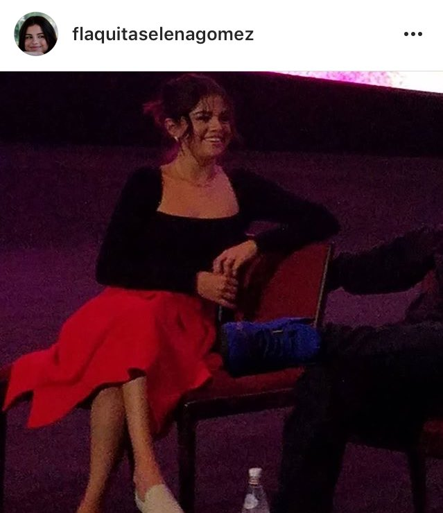 Selena hosting the Q&amp;A for #GoodTime movie at ArcLight Cinemas in Los Angeles. <br>http://pic.twitter.com/4niVyZ3oGE