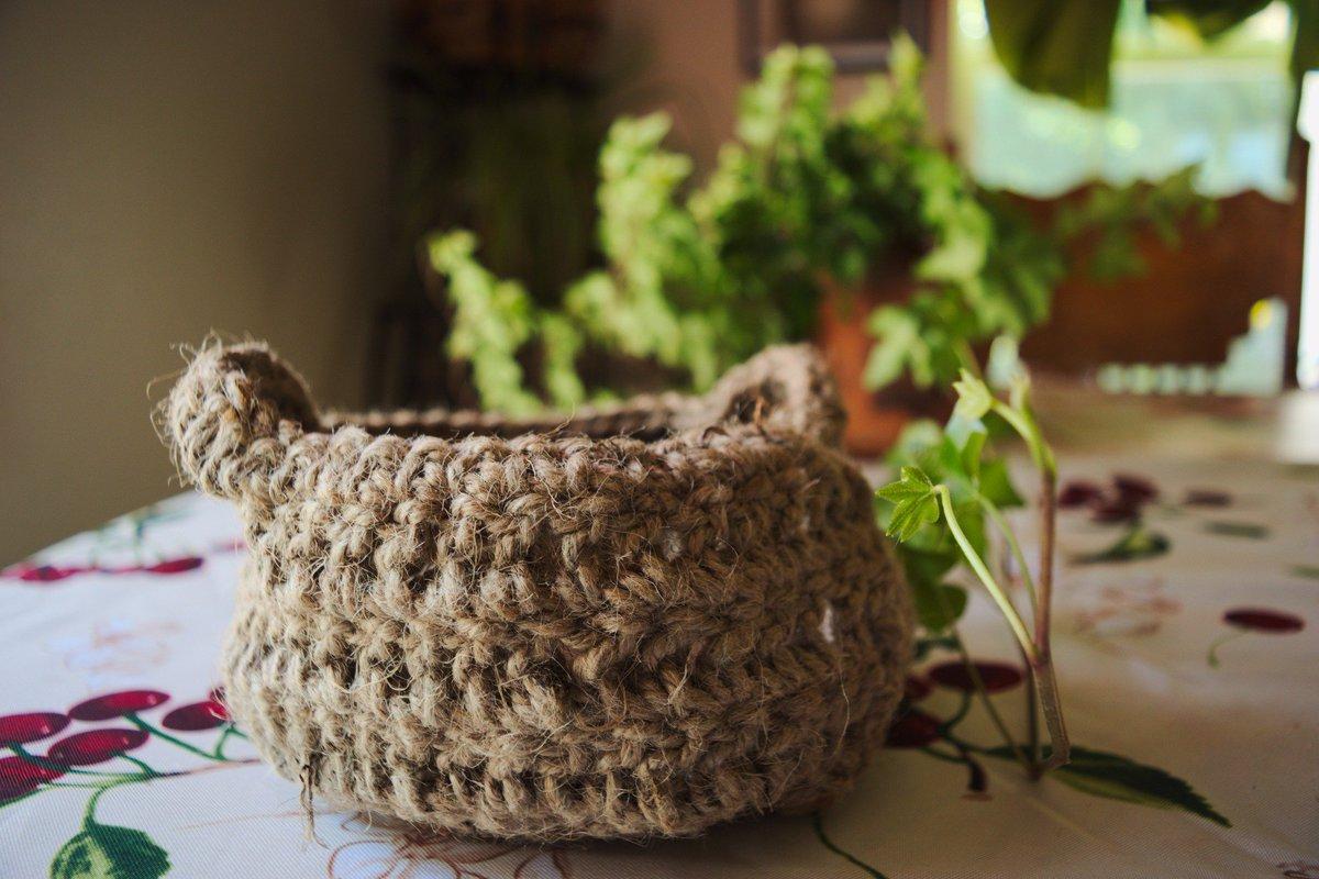 #handmade Jute Baskets, Perfect at the Entryway or Coffee Table! #Etsy #HomeDecor #organize  http://www. etsy.com/shop/gardenoft heking &nbsp; … <br>http://pic.twitter.com/ShiJVNKMFl