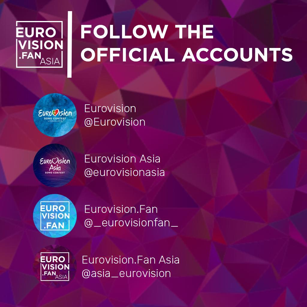 Follow the Official Accounts #Eurovision #EurovisionAsia <br>http://pic.twitter.com/yCa1Qvu8zI