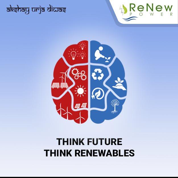 Adopting #RenewableEnergy today is a step towards a #sustainable tomorrow. #AkshayUrjaDiwas<br>http://pic.twitter.com/havRzi4ODK