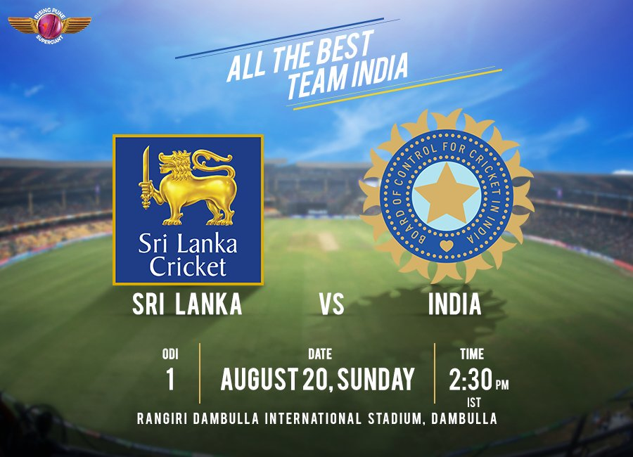 #TeamIndia 🇮🇳 & SL in the 1st ODI today at Dambulla. Will India continue the winning streak or will SL challenge their might? 👊 #SLvIND