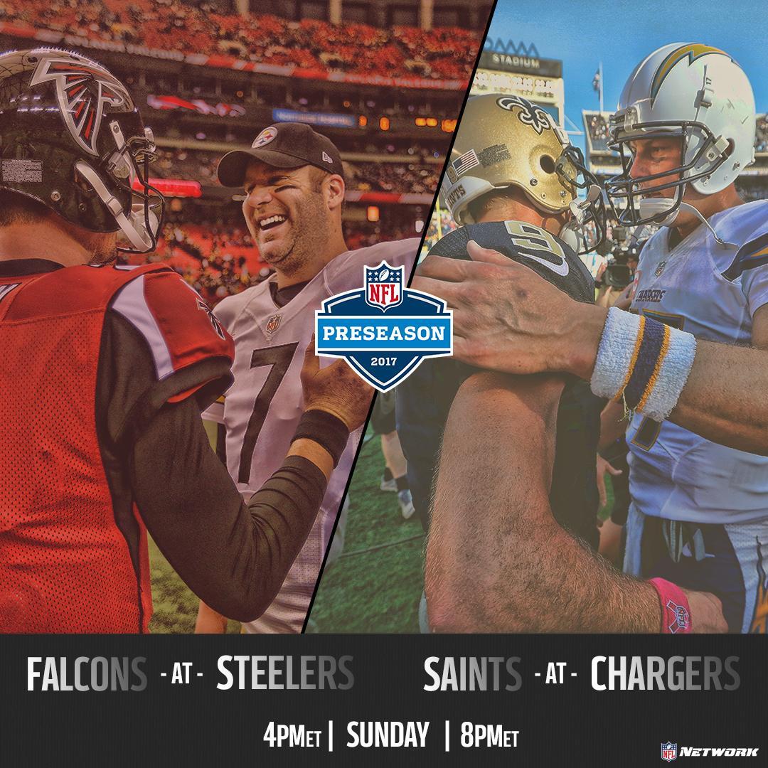 SUNDAY.  LIVE on NFL Network:  4pmET // #ATLvsPIT  8pmET // #NOvsLAC h...