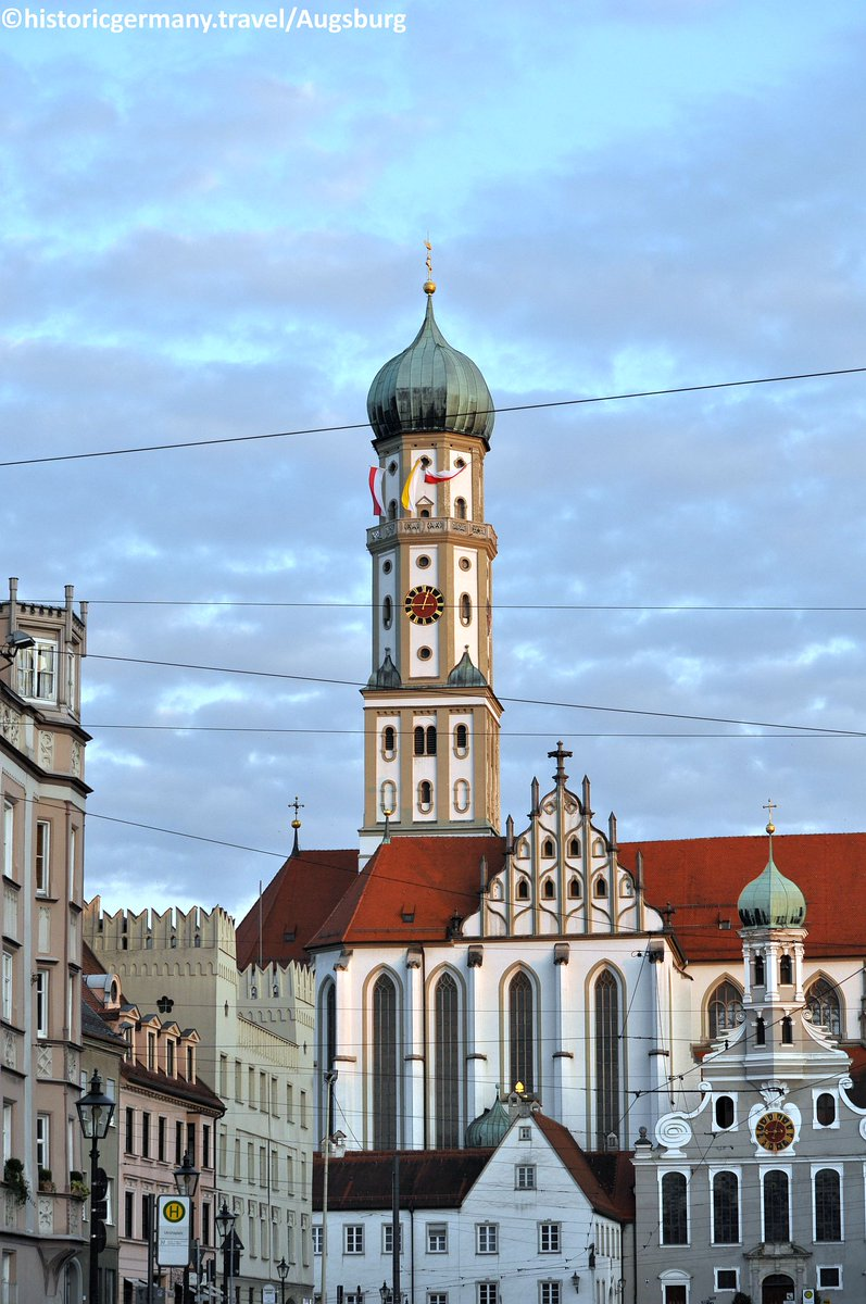 Basilica of St. Ulrich and Afra in #Augsburg with &quot;onion&quot; high bell tower is example of baroque churches in #Bavaria. #WeareGermany<br>http://pic.twitter.com/nWrwRNDzu4
