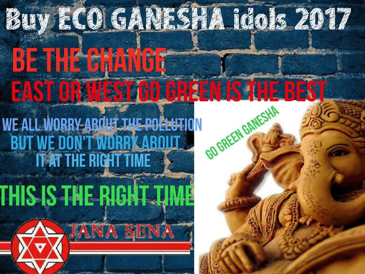 Buy #ecofriendly On #GaneshChaturthi<br>http://pic.twitter.com/nScPD7aMfK