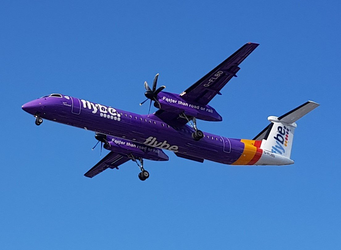 Flybe Bombardier Dash 8 Q400 | #Aberdeen → #London | 1 hour 30 min  Engines: Pratt &amp; Whitney PW100/150 | Produced: Toronto Downsview (YZD)<br>http://pic.twitter.com/bcrFb99IHR