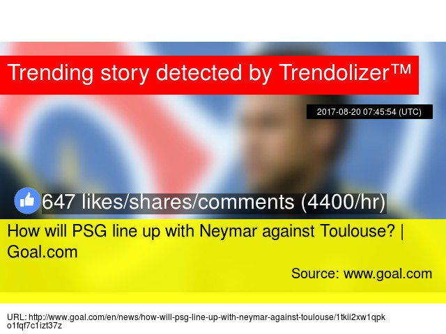 How will PSG line up with Neymar against Toulouse? |  http:// Goal.com  &nbsp;   #ParcdesPrinces  http://www. trendolizer.com/2017/08/how-wi ll-psg-line-up-with-neymar-against-toulouse-goalcom.html &nbsp; … <br>http://pic.twitter.com/q8Wa2hXTGN