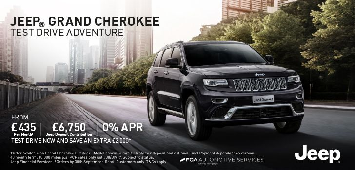 Start your Jeep adventure - we have an additional £2,000 contribution on the #Jeep Grand Cherokee! T&Cs apply > https://t.co/Oi1ZxGu3wX https://t.co/82Me2N0HxE