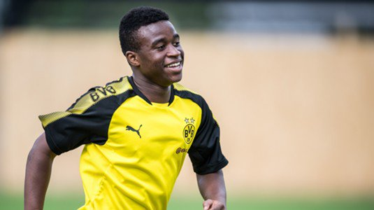 Twelve-year-old forward Youssoufa Moukoko has scored eight goals in three games for Borussia #Dortmund&#39;s under-17 side this season. #BVB<br>http://pic.twitter.com/jvCL9o1lDr