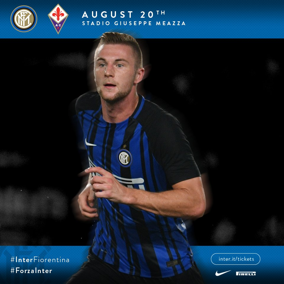 ⚽️ #InterFiorentina 🏆 1^ giornata @SerieA_TIM ⏰ 20:45 🏟 Giuseppe Meazza  #FORZAINTER ⚫️🔵