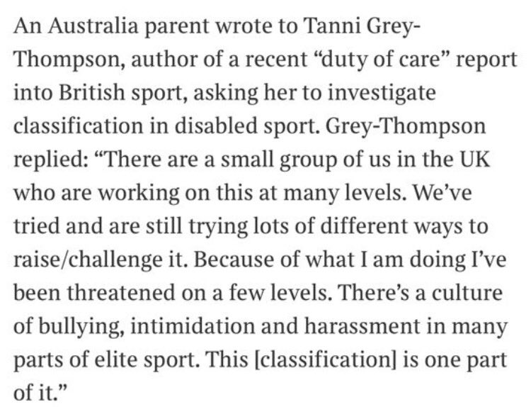 Exactly what @BethyWoodward faced! #Intimidation #Bullying &amp; #Harassment for speaking out for what is right. #TheSundayTimes #DavidWalsh<br>http://pic.twitter.com/2fnw6JsBZ8