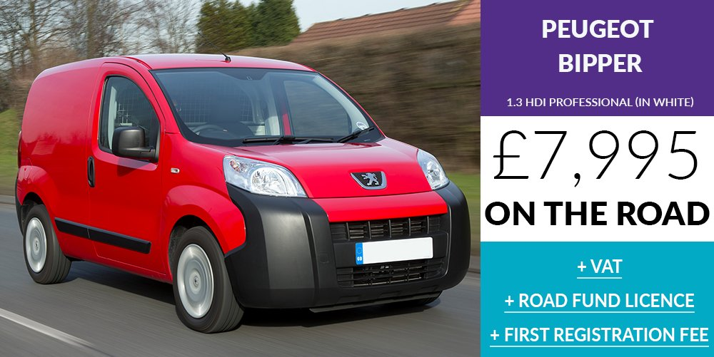 #Peugeot #Bipper £7,995 OTR + VAT + RFL + 1st REG FEE  Call now for this excellent deal 01273 020588 or we  you  https:// buff.ly/2uUatW9  &nbsp;  <br>http://pic.twitter.com/sXZrmc9vvP