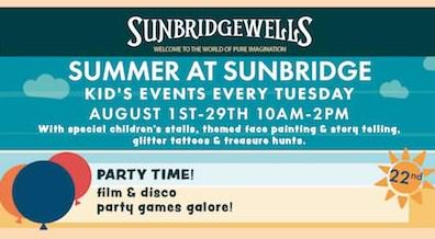 Tuesday&#39;s Summer at Sunbridge is a disco party theme! Bring the kids down for £1 each - book here:   http:// ow.ly/lLBS30erKdd  &nbsp;   #Bradford #kids<br>http://pic.twitter.com/8bq6OXFZg9