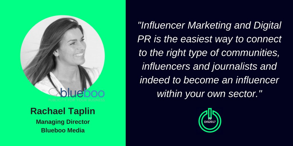 Learn about #InfluencerMarketing &amp; digital #PublicRelations with @RachaelTaplin #DIS2017 #Bournemouth Register:  http://www. digitalinnovationshow.com  &nbsp;  <br>http://pic.twitter.com/m1SSzO6uA7