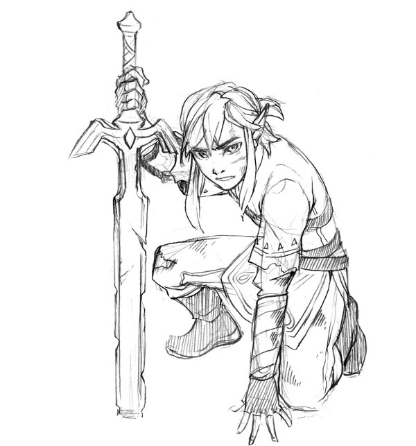 I want to play #botw UwU  but I don&#39;t have a switch... nor the time to play it  #LegendofZelda #sketch <br>http://pic.twitter.com/T7oRf3bweo