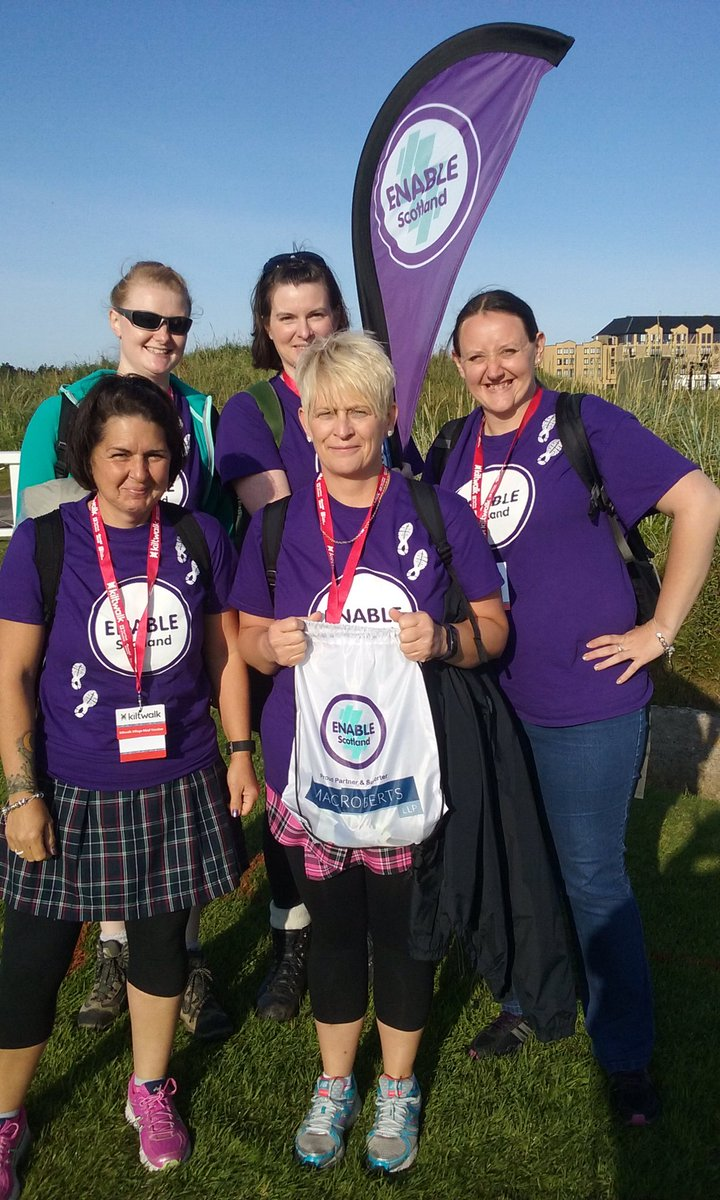 Best wishes to our marvellous Mighty Striders setting out on their 26 mile journey from St Andrews! @thekiltwalk #Dundee <br>http://pic.twitter.com/K8A75MApyB