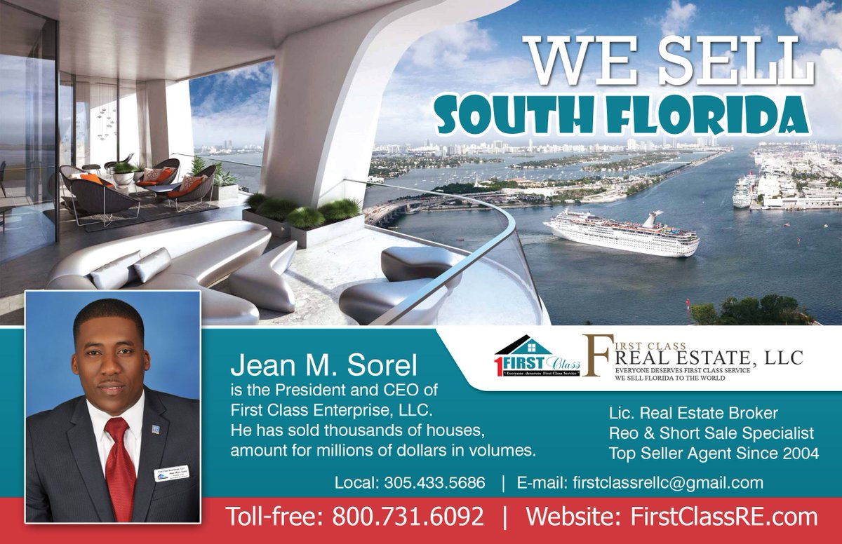 Agents sell homes for more than FSBOs: study finds Don&#39;t add more stress to your life  hire me #Jean Sorel #1Broker in Miami at 305.401.1870<br>http://pic.twitter.com/EmBEHdEnHP