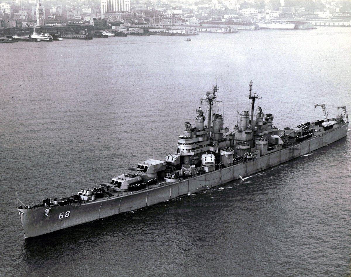 """陸海空の兵器bot on Twitter: """"ボルチモア級重巡洋艦(米) 排水量14472t ..."""