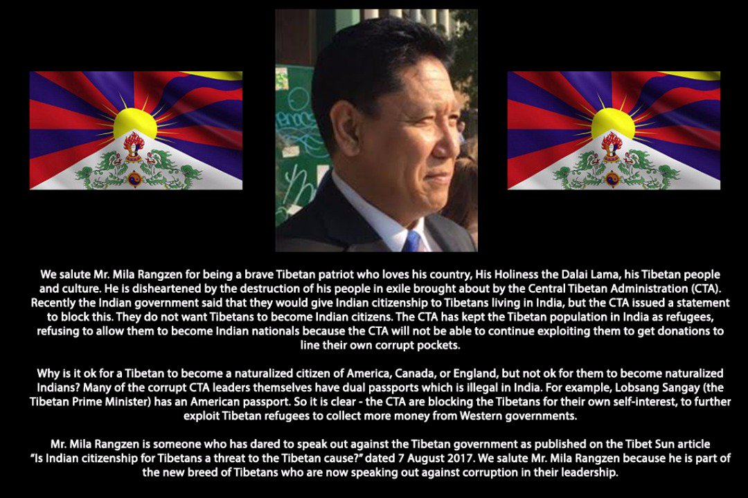 Why #Tibetans become #American, #Canadian or #English citizen but not #Indian citizens? Thank you Mr. Mila Rangzen!  #Tibet #CTA #Dharamsala<br>http://pic.twitter.com/wyhIdKzIn3