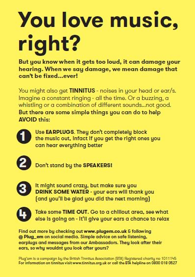 If you&#39;re at a #gig, #festival or #club over the summer, protect your hearing. Read and share our simple advice.<br>http://pic.twitter.com/PG0txKl8Hc