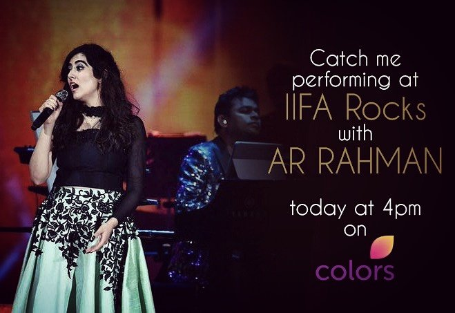 Turn on your TV and lock it on to @ColorsTV! Only 40 min to go for our #IIFARocks performance to air! @arrahman @IIFA #IIFA2017 https://t.co/wT4dTbBskI