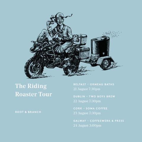 Simon of @RootAndBranchO is strapping a roaster to his motorbike and taking to the streets meet him in Soma from 7:30 this wednesday #Cork <br>http://pic.twitter.com/Uyz2FrU2r1