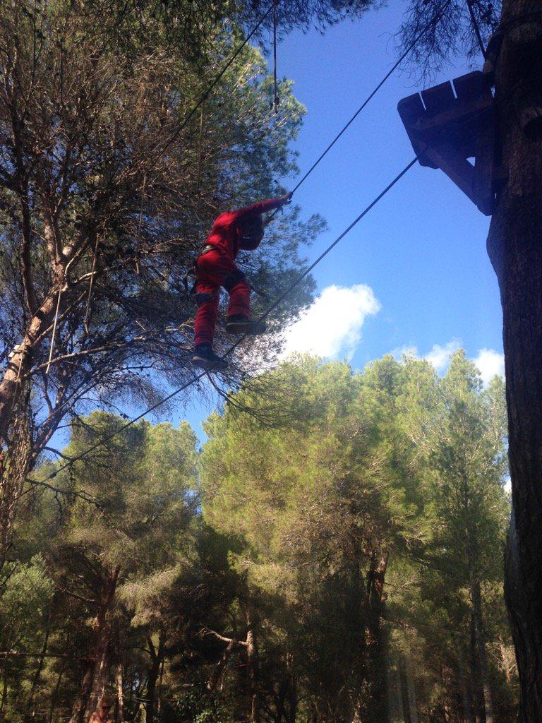 Do you dare?   jungleparc.es   #forestal #park #ziplines #acrobatic #M...