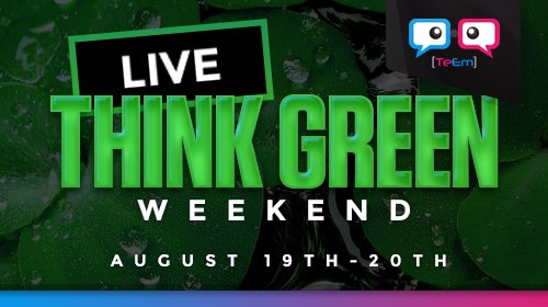 Now LIVE  Second day of #thinkgreen Such an amazing cause &lt;3 Come join me in aid of the charity. #TeamEmmmmsie  http:// twitch.tv/phillyreid666  &nbsp;  <br>http://pic.twitter.com/vv6ZbdLUxZ