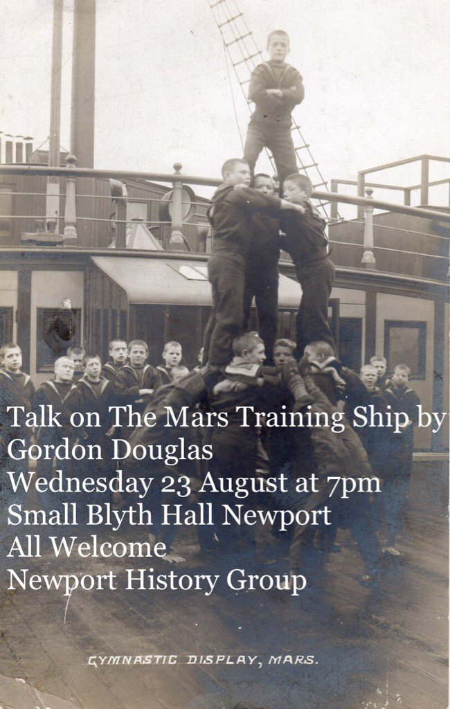 Newport date for your diary, talk on The Mars by local author Gordon Douglas 23rd August #RiverTay #Dundee #shipping<br>http://pic.twitter.com/KLteASVjuI