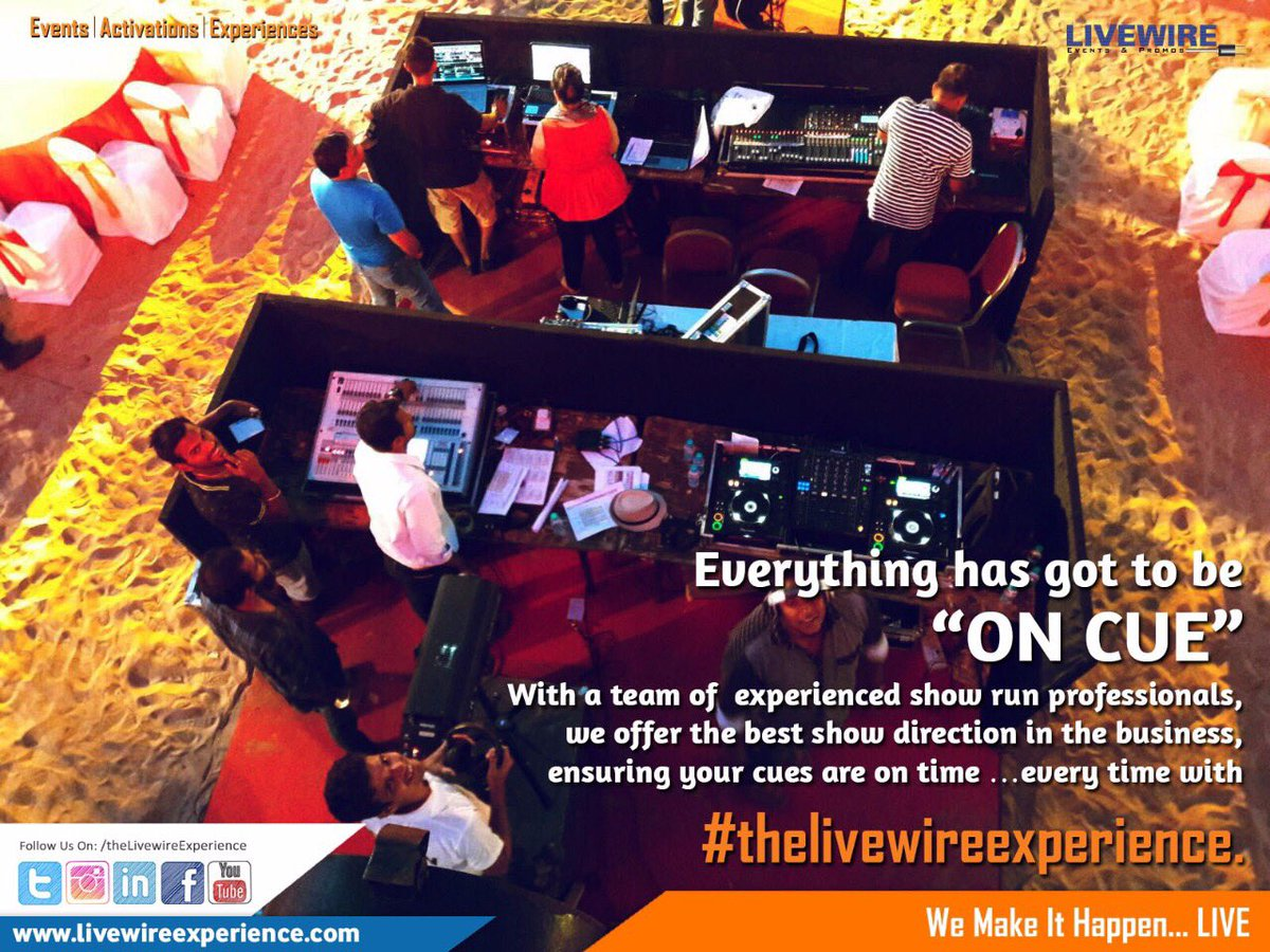 Everything has got to be on cue with #thelivewireexperience. #eventmanagement #eventprofs #eventdesign #eventplanner #eventorganiser <br>http://pic.twitter.com/BkLyCKIGZB