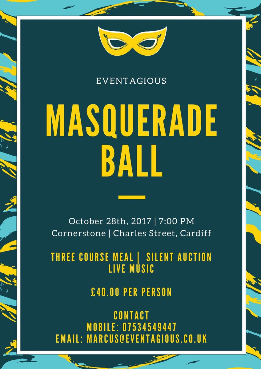 Check out our upcoming event,  http:// eventagious.co.uk/et/events-in-s outh-wales/ &nbsp; …  #events #eventprofs #masquerade #ball #cornerstone #wales #cardiff #fundraiser<br>http://pic.twitter.com/ueP1XBHWru