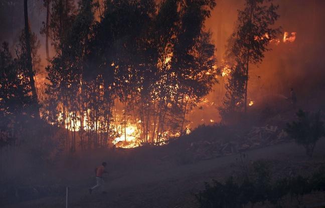 Incendies au Portugal: Un hélicoptère s'écrase, son pilote décède http...