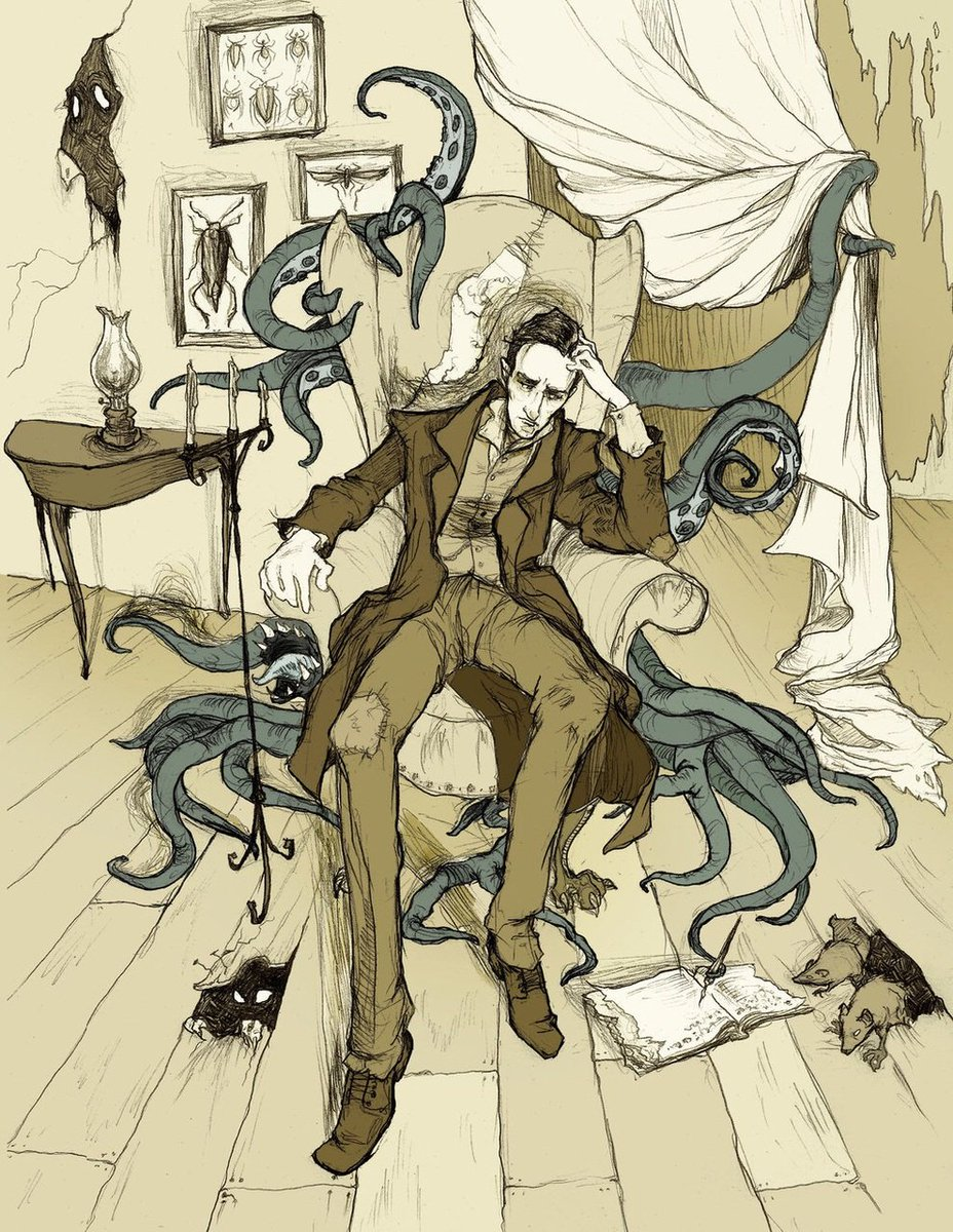 Happy birthday H.P Lovecraft  #FelizDomingo #HPLovecraft #birthday #drawing <br>http://pic.twitter.com/7v2MNcggbm