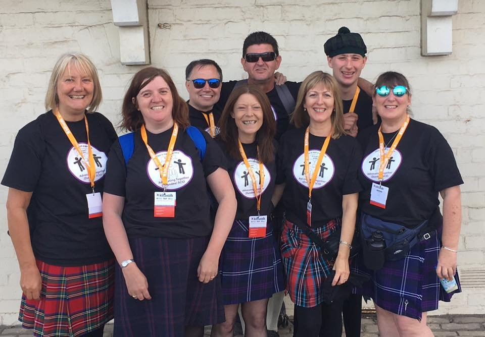 Team Advocating Together at the start of #Dundee @thekiltwalk today #fundraising #KiltwalkDundee <br>http://pic.twitter.com/Af9RGHFDYf