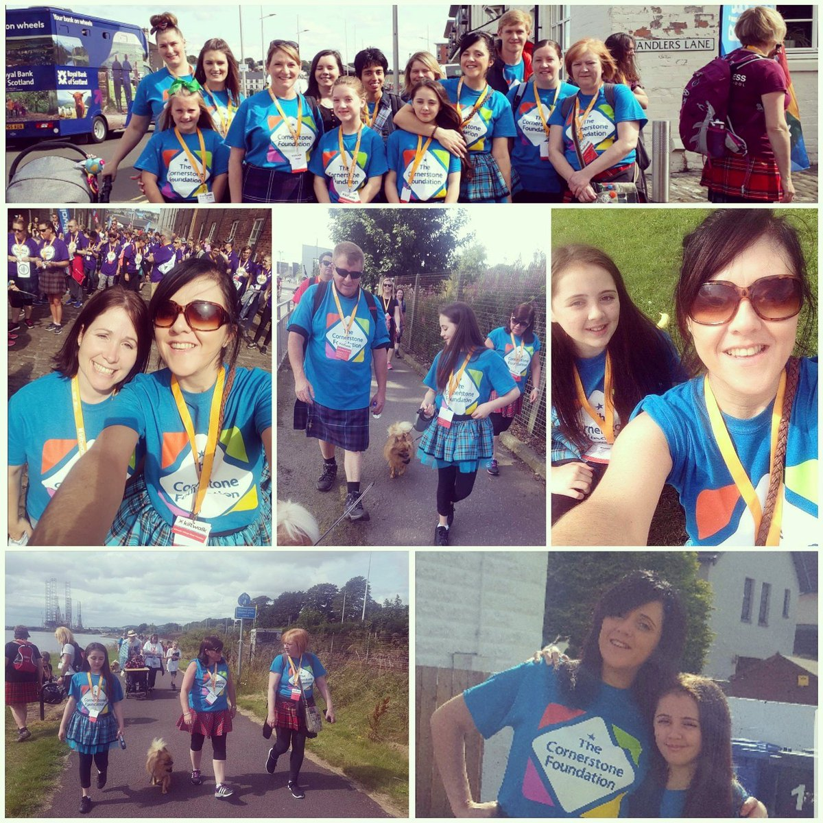 Great day taking part in the #Dundee #Kiltwalk today for @TCFScot #sorefeet #sweatymess but worth it #greatcause <br>http://pic.twitter.com/3glaDbCYQJ