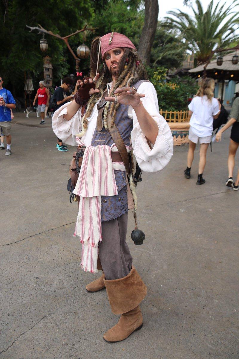 #CaptainJackSparrow is roaming around #Adventureland and #NewOrleansSquare at #Disneyland! #dlr #jacksparrow #potc #pirateslife #potc5 <br>http://pic.twitter.com/QqMEBz5edO