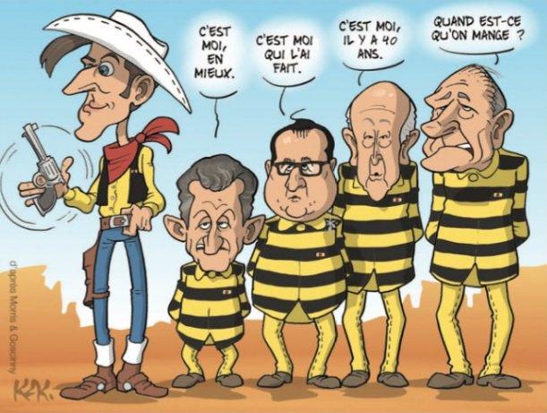 #Dalton #Sarkozy #Hollande #VGE #Chirac #Elysee #VeRepublique #Pouvoir #Macron Super Star Dessin @MonsieurKak<br>http://pic.twitter.com/WFvf1KwAMk