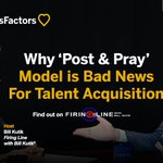 """Why a """"post & pray"""" approach to recruiting will never get you the candidates you want. @BillKutik explains: https://t.co/GjeJOGgNmp"""
