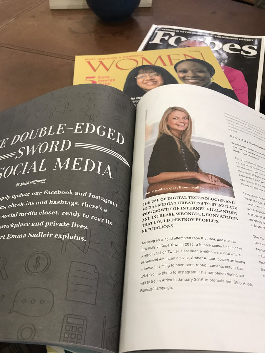 Good read on Sunday @ExclusiveBooks @EmmaSadleir  @StandardBankZA #socialmedia #digital #internet #responsibility #cyberbullying #expression<br>http://pic.twitter.com/EM7aavYOen