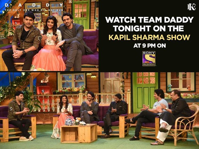 Really excited to watch #kapil Sharma show tonigh at 9pm ... do watch it guys real fun an masti wit team #Daddy @rampalarjun https://t.co/J58GDJVpRx